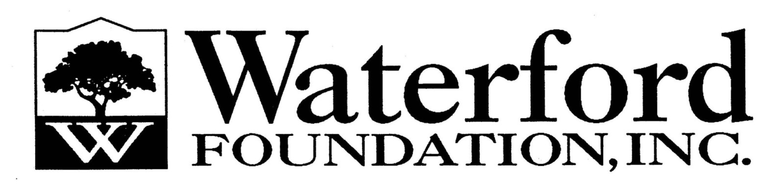 Waterford Foundation logo type&tree3